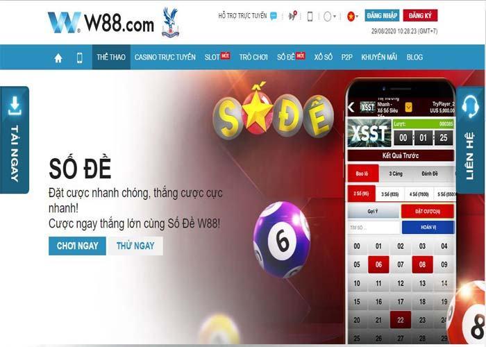 danh lo de online uy tin W88 - Nhà cái đánh lô đề online uy tín nhất Đông Nam Á
